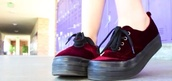 shoes,burgundy,platform shoes,stylish,hipster