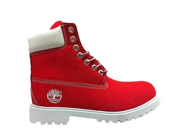 Custom Red Timberlands by Glamorousfeet on Etsy