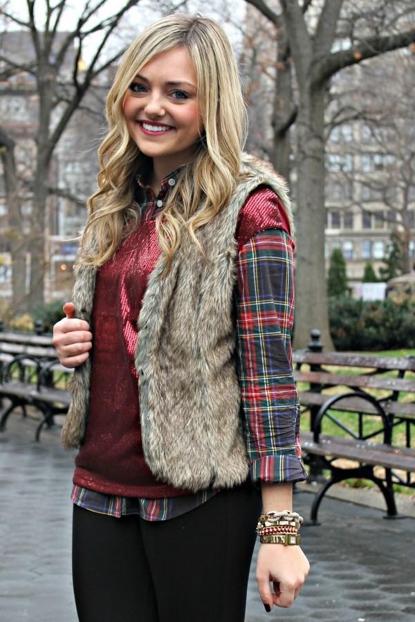 jacket fur vest fur coat faux fur vest