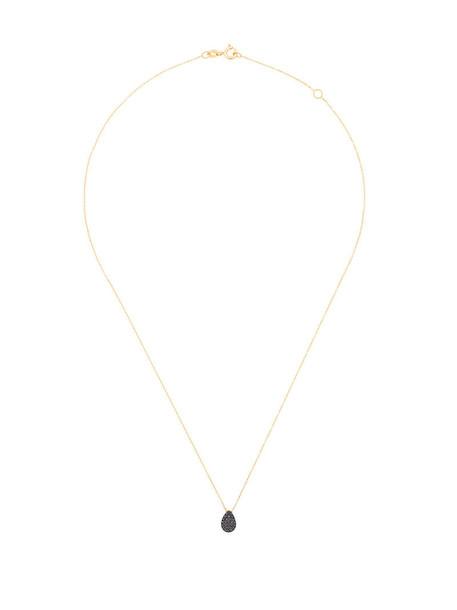 women necklace gold black yellow grey metallic jewels