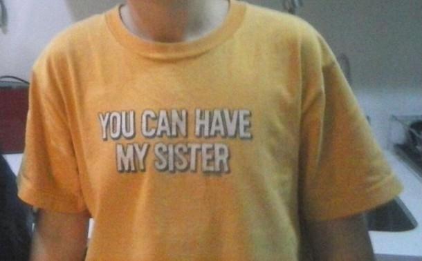 t-shirt funny guys yellow
