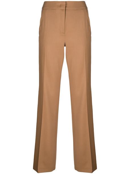 No21 - side stripe trousers - women - Virgin Wool - 42, Nude/Neutrals, Virgin Wool