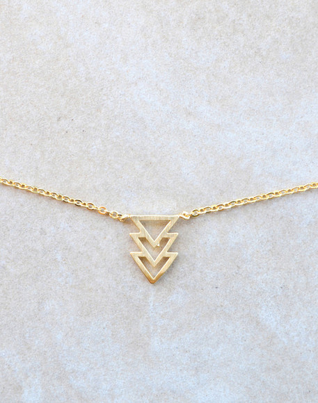triangle necklace triangle necklace jewels gold gold necklace gold necklaces triangles