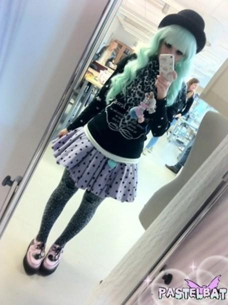 skirt pastel goth gothic lolita pastel grunge cute