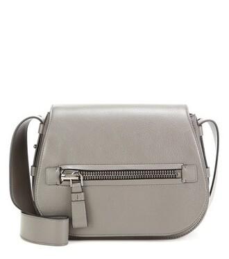 soft bag shoulder bag leather grey