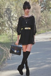 autilia,leopard print,collar,black dress,brown dress,dress