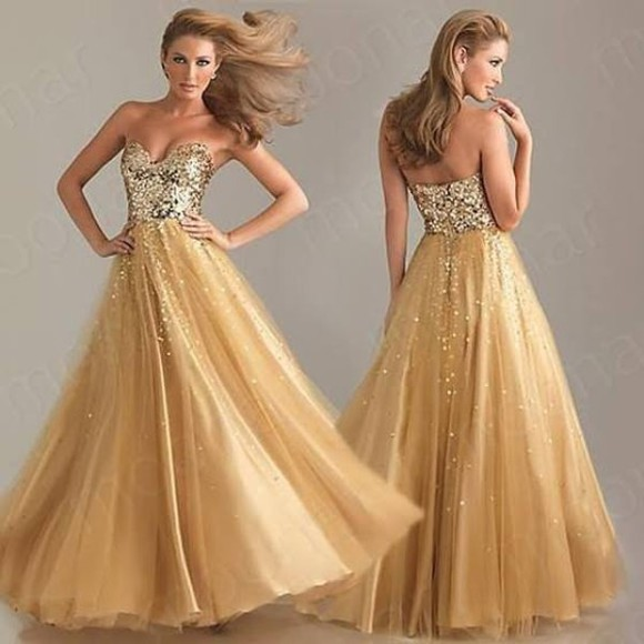 sequins homecoming dress prom dress evening dress evening gowns homecoming gowns sweetheart dress gold dress prom gown organza organza dress