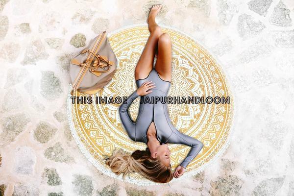 home accessory round beach throw mandala rondie