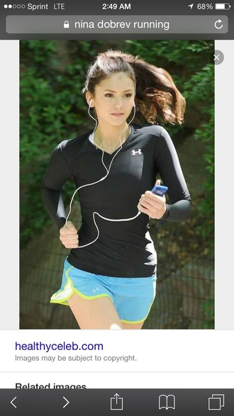 top nina dobrev long sleeves workout top running