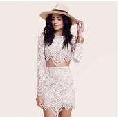 dress,2 piece lace dress,white,lace dress,bohemian,boho dress,white dress,2piece dress,lace prom dress,crochet,crochet dress,two piece dress set,summer dress,summer outfits,bodycon dress,long sleeves,long sleeve dress,cute dress,girly dress,classy dress,classy,date outfit,birthday dress,romantic summer dress,romantic dress,graduation dress,music festival,sweater,harry potter,ravenclaw,hufflepuff