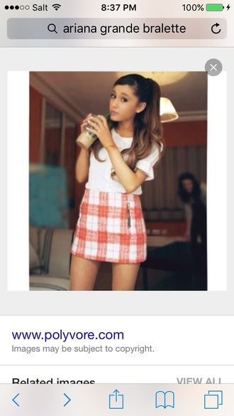 skirt red ariana grande