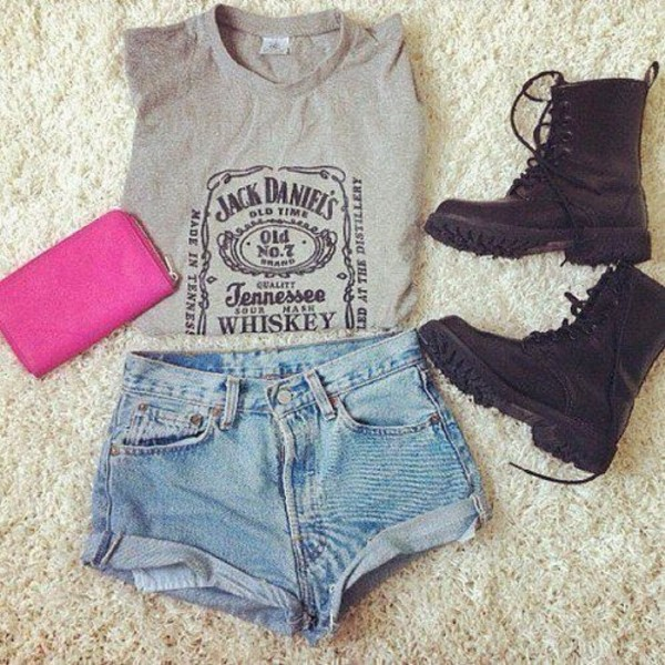 shirt jack daniel's shist t-shirt shorts shoes