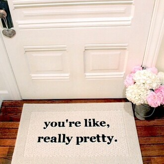 scarf welcome mat home accessory home decor quote on it rug doormat girly mean girls dorm room carpet