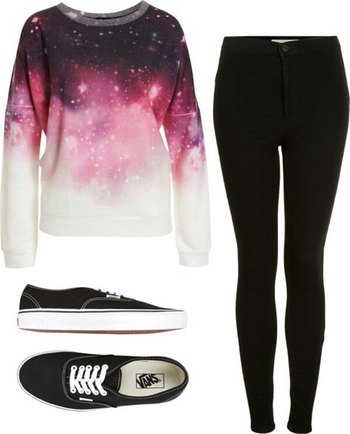 sweater sweatshirt universe style outfit outfit idea cute cute outfits comfy black black jeans sneakers black sneakers