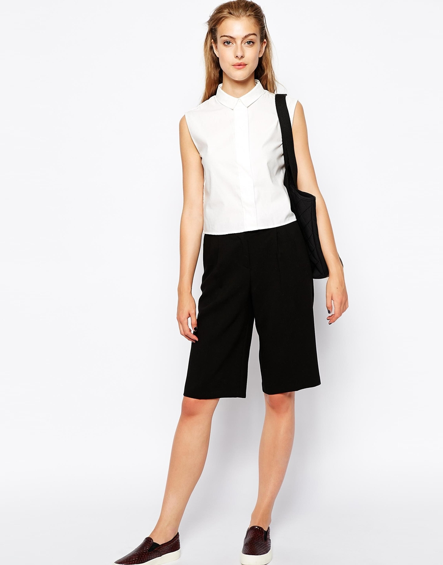 Mango Boxy Sleeveless Shirt at asos.com