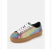 shoes,holographic shoes,hologram sneakers,gum bottom,sneakers,flatform sandals,platform sneakers