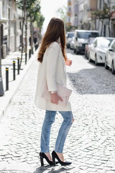 neon rock jeans blouse coat bag