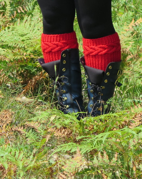 shoes socks boots knit cable knit winter outfits winter boot cuffs knit boot cuffs knitted boot cuffs red dress cable cable knit boot cuffs shoes accessories women accessories knit wear boot