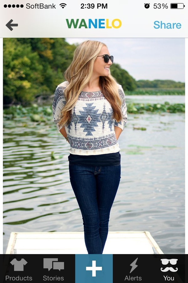 blouse aztec