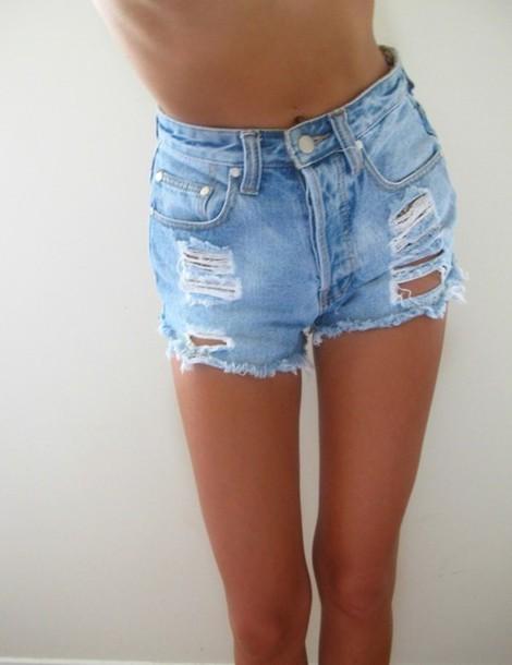 Variants High waisted cut off jean shorts