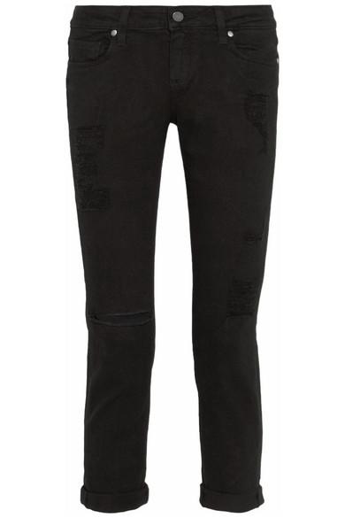 Paige|James cropped distressed boyfriend jeans|NET-A-PORTER.COM
