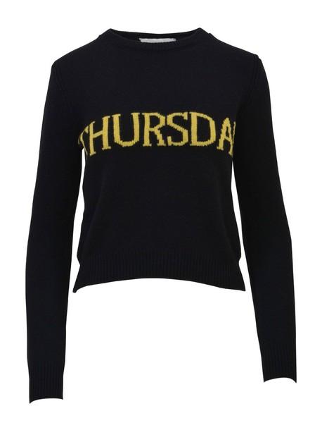 Alberta Ferretti sweater black yellow