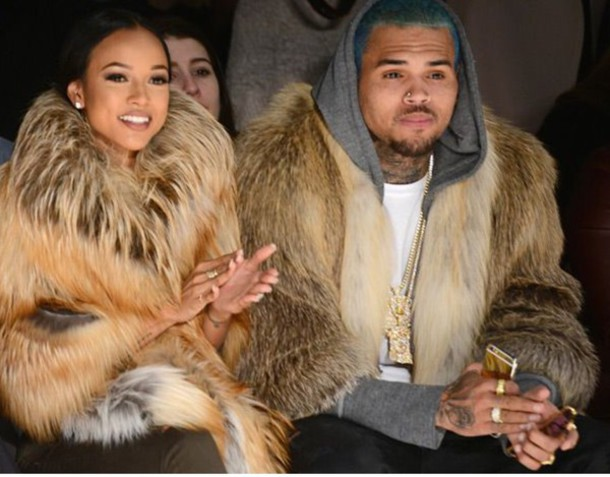 coat karrueche chris brown fur coat singer