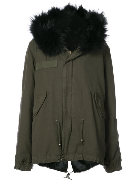 Mr & Mrs Italy parka fur women cotton green coat