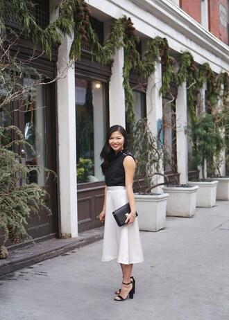 skirttherules blogger t-shirt top skirt bag jewels shoes midi skirt white skirt sandals