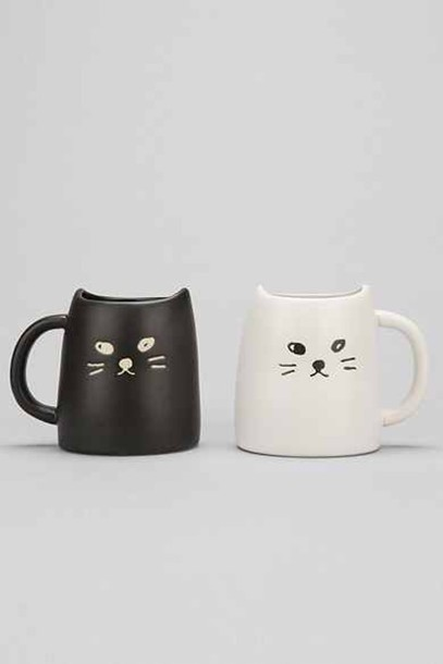 cup of couple mug mug set mug cup set mug cups coffee coffee cats cats cats cats two cats white mug white mugs black coffee animals ❤ black and white black and white home accessory