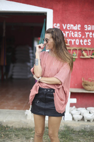b a r t a b a c blogger leather skirt