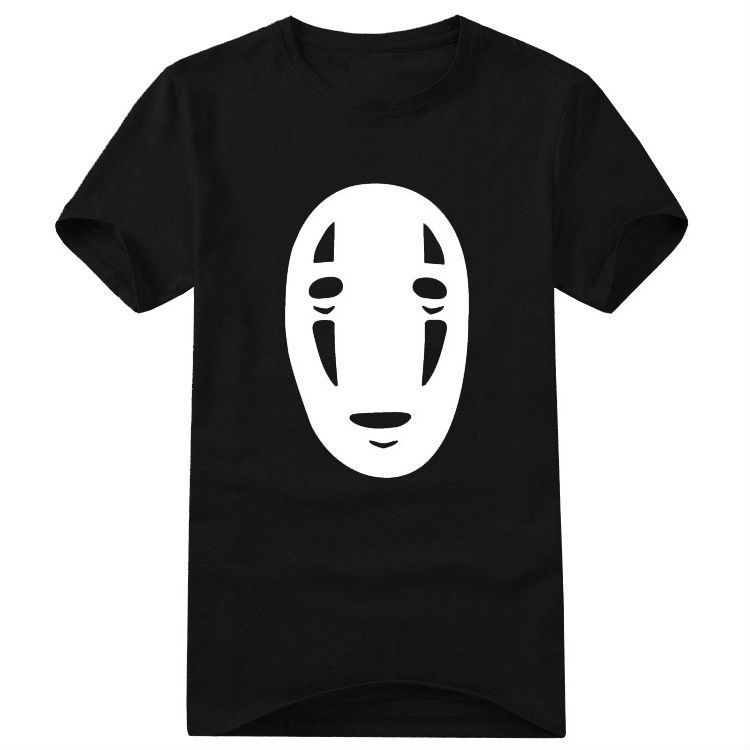 Free shipping the anime Japanese cartoon No Face man Spirited away Hayao Miyazaki print large size t shirt top tee t shirt-in T-Shirts from Apparel & Accessories on Aliexpress.com