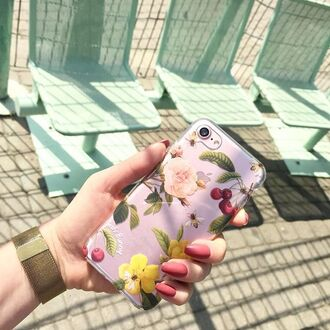 phone cover yeah bunny iphone cover floral flowers cherry cute iphone cover