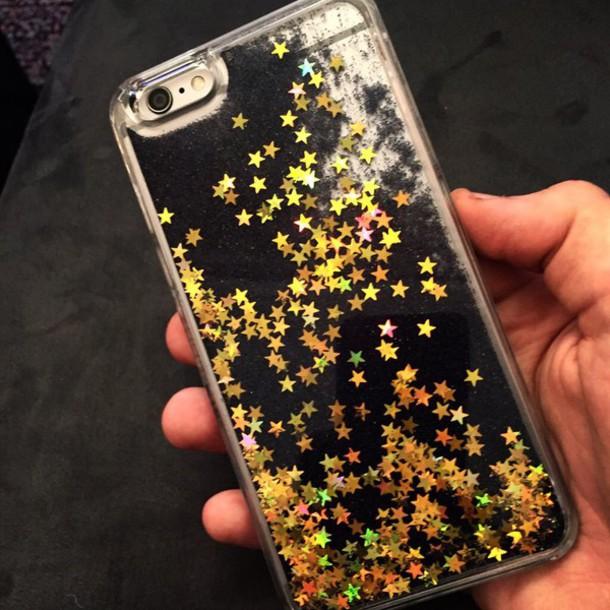 purchase cheap 63ef3 7fa93 Skinnydip London Fairy Dust iPhone 6 Case - Black Glitter