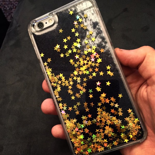 black glitter iphone 6 plus case