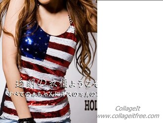 shirt top blue red white american flag sparkle hippie clothes
