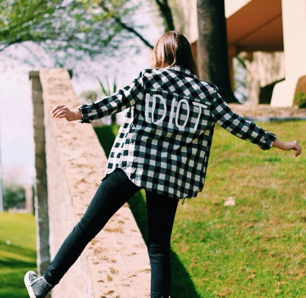 top white black style fashion green jeans flannel shirt flannel long sleeves girl