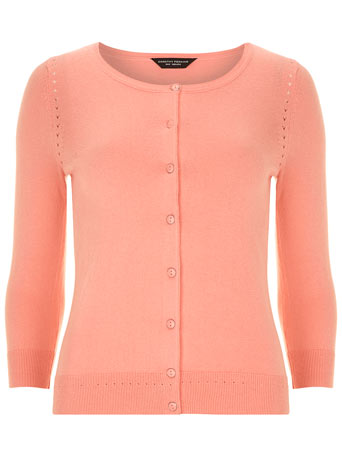 Coral Crew Neck Cardigan - Knitwear  - Clothing  - Dorothy Perkins