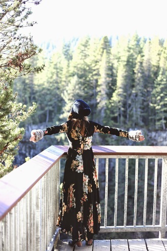 to bruck ave blogger floral dress maxi dress
