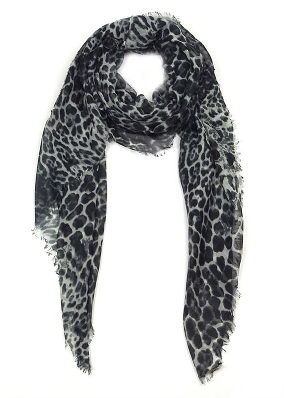 Animal print traditional scarf w/ raw edge – betsy boo's boutique