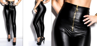 leggings jeans sportswear leggings leggings wet look leather zip yoga pants