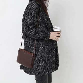 coat grey fall outfits denim basic hipster