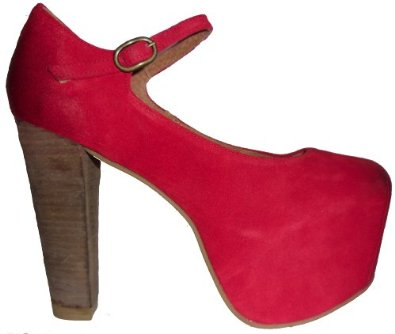 Jeffrey campbell mary high heel red suede heel: amazon.co.uk: shoes & bags
