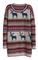 Light khaki deer fair isle christmas pattern oversized sweater