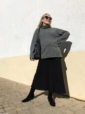 trini,blogger,sunglasses,skirt,shoes,bag