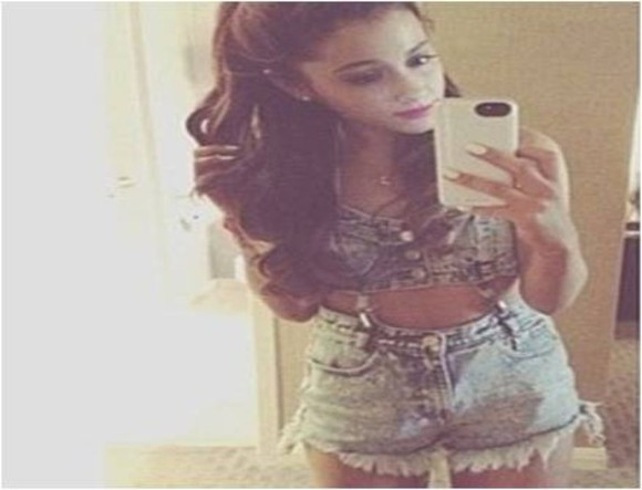 bralette shorts bralet crop tops dress phone playsuit ariana grande ariana grande butera denim