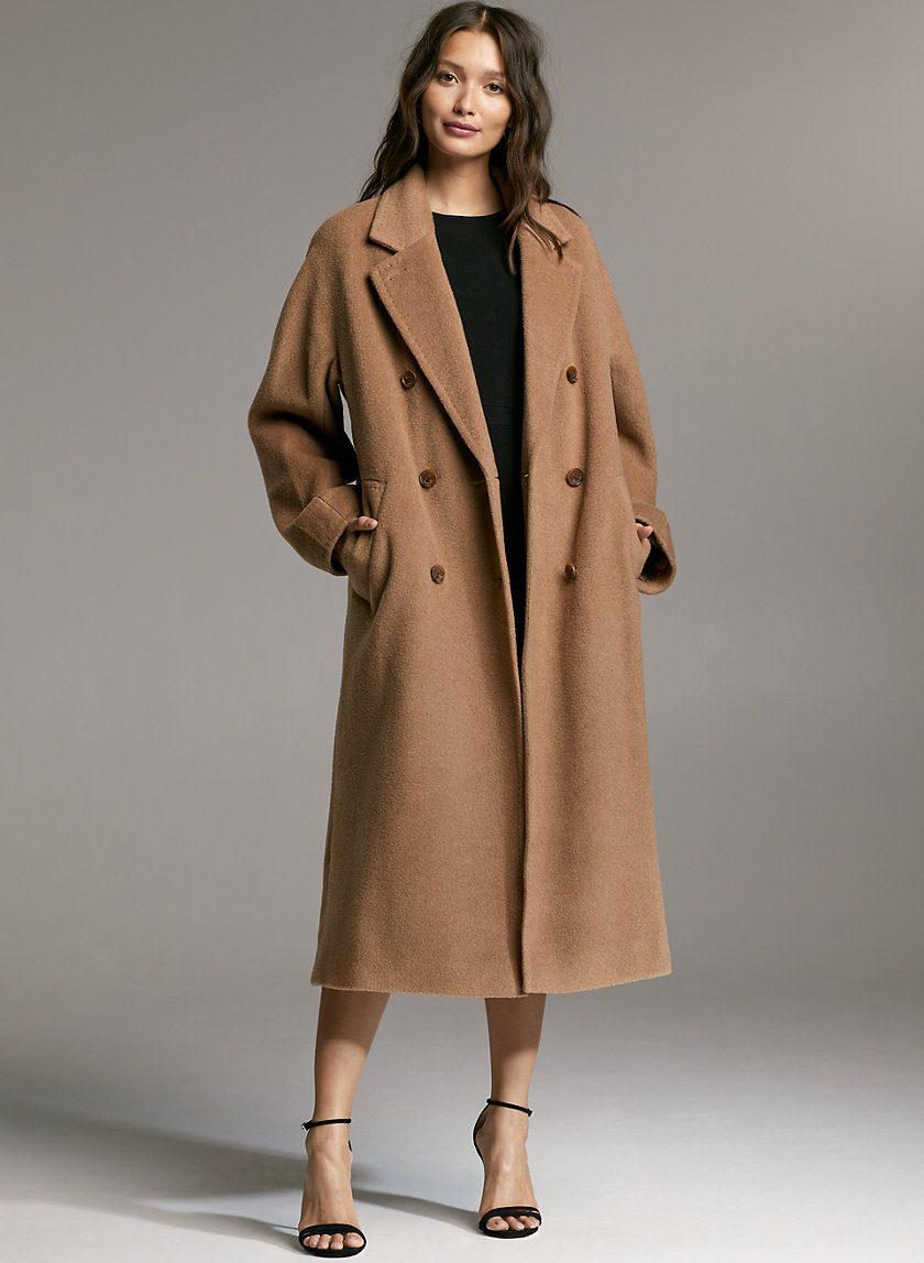 Babaton Slouch Camel Wool Coat