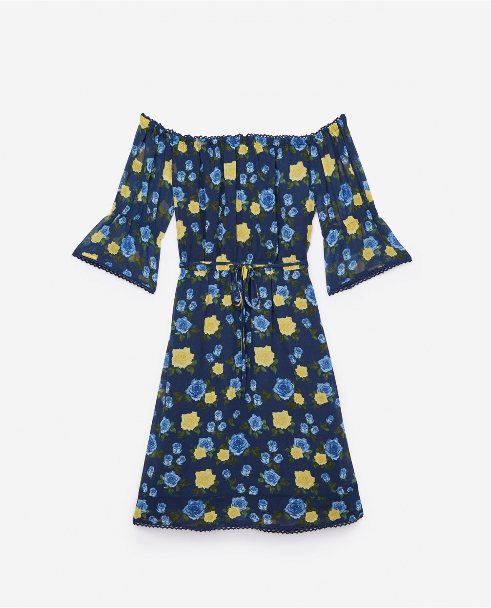 The Kooples United States Official Website - Wild Roses blue dress