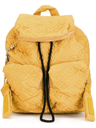 backpack yellow orange bag