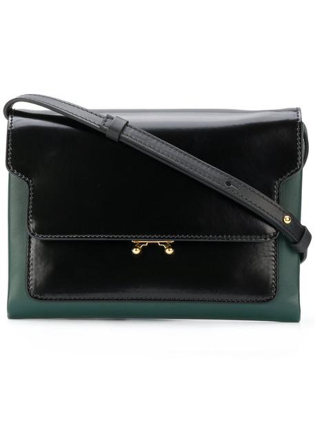 MARNI women bag shoulder bag leather green